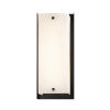 This item: Fusion Matte Black LED Outdoor Wall Mount