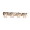 This item: Fusion Metropolis Brushed Nickel Four-Light LED Bath Vanity