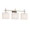 This item: Fusion Union Brushed Nickel Three-Light LED Bath Vanity