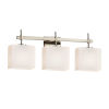 This item: Fusion Union Brushed Nickel Three-Light Bath Vanity
