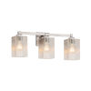 This item: Fusion Regency Brushed Nickel Three-Light LED Bath Vanity with Seeded Glass