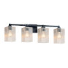 This item: Fusion Regency Matte Black Four-Light Square Bath Vanity