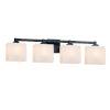 This item: Fusion Regency Matte Black Four-Light LED Bath Vanity
