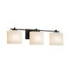 This item: Fusion Era Matte Black Three-Light Bath Vanity with Oval Shade