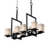 This item: Fusion Matte Black Three-Light LED Chandelier