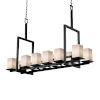 This item: Fusion Montana Matte Black Five-Light LED Chandelier