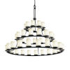 This item: Fusion Matte Black 45-Light LED Chandelier