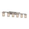 This item: Fusion Dakota Brushed Nickel Six-Light LED Bath Vanity