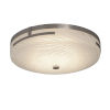 This item: Fusion Brushed Nickel 14-Inch LED Flush Mount with Weave Glass