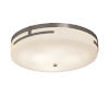 This item: Fusion Brushed Nickel 19-Inch LED Flush Mount with Opal Glass