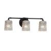This item: Veneto Luce Matte Black Three-Light LED Bath Vanity