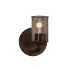 This item: Wire Mesh Bronx Dark Bronze One-Light Wall Sconce