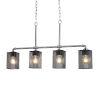 This item: Wire Mesh - Bronx Dark Bronze Five-Inch Four-Light Chandelier