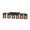 This item: Wire Mesh Montana Dark Bronze Six-Light Bath Vanity