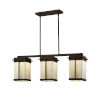 This item: Porcelina - Pacific Matte Black Eight-Inch Three-Light LED Outdoor Chandelier