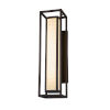 This item: Porcelina Dark Bronze Two-Light LED Outdoor Wall Mount