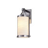 This item: Porcelina Brushed Nickel One-Light Outdoor Wall Mount