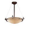 This item: Porcelina Metropolis Dark Bronze Three-Light Pendant