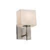 This item: Porcelina Union Brushed Nickel One-Light Wall Sconce