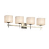 This item: Porcelina Union Brushed Nickel Four-Light LED Bath Vanity