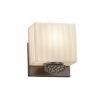 This item: Porcelina - Malleo Brushed Nickel Six-Inch One-Light ADA Wall Sconce