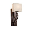 This item: Porcelina Victoria Dark Bronze One-Light Wall Sconce with Rectangle Shade