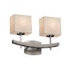 This item: Porcelina Archway Brushed Nickel Two-Light LED Bath Vanity