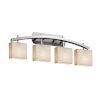 This item: Porcelina Archway Brushed Nickel Four-Light LED Bath Vanity