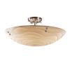 This item: Porcelina Brushed Nickel Six-Light LED Semi-Flush Mount