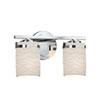This item: Limoges - Atlas Matte Black Two-Light LED Bath Bar with Cylinder Flat Rim Waves Shade