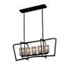This item: Wire Glass - Aria Dark Bronze Five-Light LED Chandelier with Cylinder Flat Rim Grid with Clear Bubbles Shade