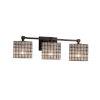This item: Wire Glass Tetra Matte Black Three-Light Bath Vanity