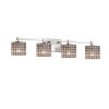 This item: Wire Glass Tetra Brushed Nickel Four-Light Bath Vanity