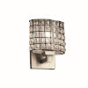 This item: Wire Glass Regency Brushed Nickel LED Wall Sconce