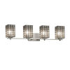 This item: Wire Glass Era Brushed Nickel Four-Light LED Bath Vanity