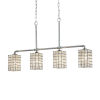 This item: Wire Glass - Bronx Polished Chrome Five-Inch Four-Light Chandelier