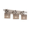 This item: Wire Glass Argyle Brushed Nickel Three-Light LED Bath Vanity