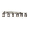 This item: Wire Glass Brushed Nickel Six-Light LED Bath Vanity