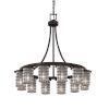 This item: Wire Glass Dark Bronze 12-Light LED Chandelier