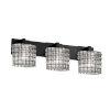 This item: Wire Glass Modular Matte Black Three-Light Bath Vanity