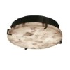 This item: Alabaster Rocks Dark Bronze 16-Inch Wide LED Round Clips Flush Mount