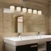 This item: Clouds Brushed Nickel Six-Light Bath Bar