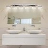 This item: Clouds Brushed Nickel Six-Light Bath Bar