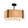 This item: Textile  Dark Bronze 18.5-Inch LED Drum Pendant