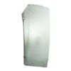 This item: Fusion Brushed Nickel One-Light Rectangular Finial Wall Sconce with Weave Glass