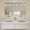 This item: Veneto Luce Brushed Nickel Six-Light Bath Bar