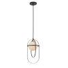 This item: Lennox Matte Black One-Light Mini Pendant