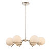 This item: Everett Polished Nickel Six-Light Chandelier