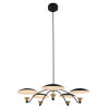 This item: Redding Matte Black with Brass Accent Five-Light LED Chandelier