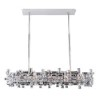 This item: Vermeer Chrome Eight-Light Island Pendant with Swarovski Strass Crystal